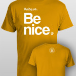 And Dog Said Be Nice - men gold
