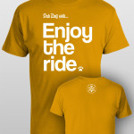 And Dog Said Enjoy the Ride - men gold