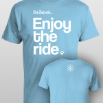 And Dog Said Enjoy the Ride - men ocean blue