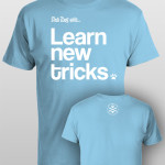 And Dog Said Learn New Tricks - men ocean blue