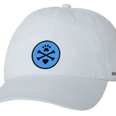 LIVE LOVE DOGS logo cap - white